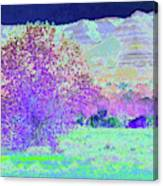 Purple Tree Reverie Canvas Print