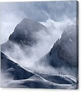 Pyramide And Roc Merlet In Courchevel Canvas Print