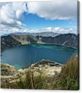 Quilotoa Crater Lake Canvas Print
