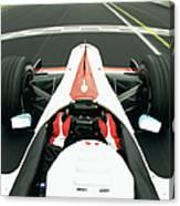 Racing Driver Approaching Finishing Canvas Print