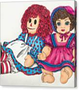 Raggedy Ann And Friend  Canvas Print