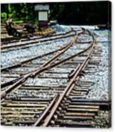 Railroad Siding Tracks Canvas Print