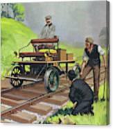 Railway Automobile Canvas Print