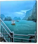 Rain Aboard Au Co Cruise Ha Long Bay  Canvas Print