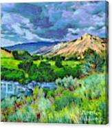 Rain Clouds On The Way To Sweetwater Canvas Print
