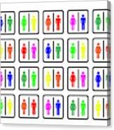 Rainbow Gender Men Women Study Canvas Print