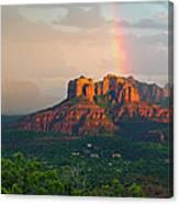 Rainbow Over Arizona Scenery Canvas Print
