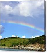 Rainbow Over Buck Island Lighthouse Canvas Print