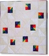 Rainbow Pinwheel Canvas Print