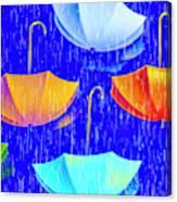 Rainy Day Parade Canvas Print