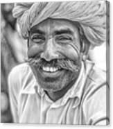 Rajput High School Teacher Bw Canvas Print