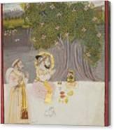 Rana Sangram Singh Worshipping A Linga Canvas Print