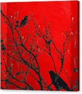 Raven - Black Over Red Canvas Print