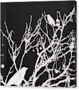 Raven - White Over Black Canvas Print