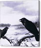 Ravens In Winter Canvas Print