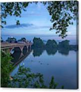 Receding Fog On The River Canvas Print