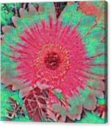 Red And Green Bloom Canvas Print
