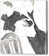 Red Detachment Of Women D1 Canvas Print