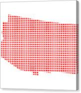 Red Dot Map Of Arizona Canvas Print