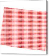 Red Dot Map Of Colorado Canvas Print