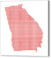 Red Dot Map Of Georgia Canvas Print