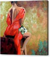 Red Lady 2 Canvas Print