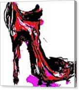 Red Shoe with High Heel Canvas Print