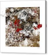 Red Splashes Canvas Print