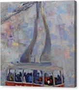 Red Tram Canvas Print