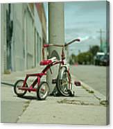 Red Tricycle Canvas Print