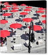 Red Umbrellas 2 Canvas Print