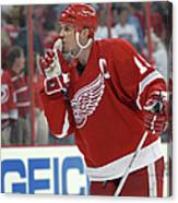Red Wings V Hurricanes Canvas Print