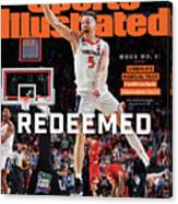 Redeemed University Of Virginia, 2019 Ncaa Champions Sports Illustrated Cover Canvas Print