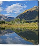 Reflections Of The Sawatch Range In The Autumn Canvas Print