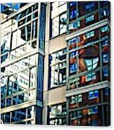 Reflections On First Avenue    Canvas Print