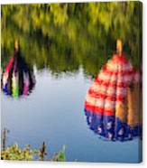 Reflections On The Androscoggin Canvas Print