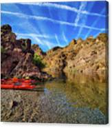 Reflections On The Colorado River Canvas Print