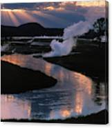 Reflections On The Firehole River Canvas Print