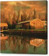 Reflections On The Wey Canvas Print