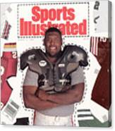 Reggie White, Nfl Free Agent Sports Illustrated Cover Canvas Print