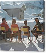 Relaxing In Lech Canvas Print