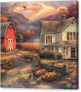 Relaxing On The Farm Canvas Print