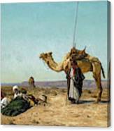 Rest In The Syrian Desert, 19th Century Canvas Print