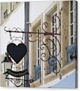 Restaurant Winstub Sign Strasbourg Canvas Print