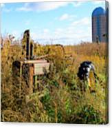 Retired John Deere Tractor 2 Canvas Print