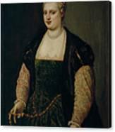 Retrato De Mujer   Canvas Print