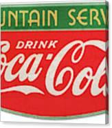 Retro Coke Sign Canvas Print