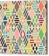Rhombuses Seamless Pattern. Geometric Canvas Print