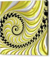Ribbed Yellow Spiral Canvas Print