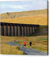 Ribblehead Viaduct In Late Autumn North Yorkshire Canvas Print